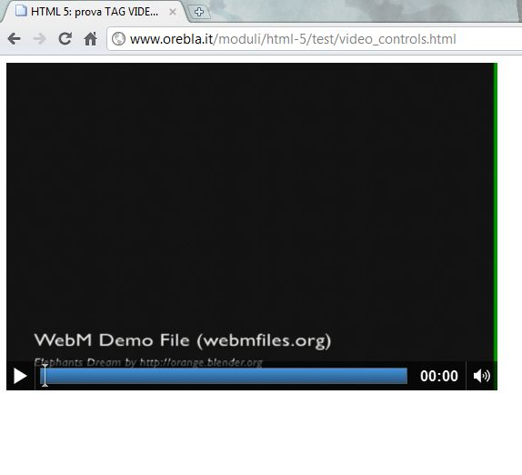 HTML VIDEO su Chrome