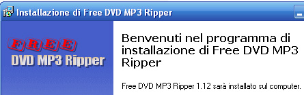 Procedura installazione Free DVD MP3 Ripper