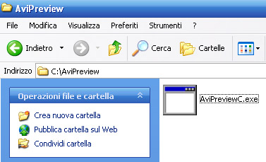 Creiamo cartalla AviPreview in C